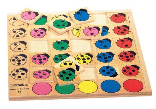 hout puzzelspel lieveheerbeestje