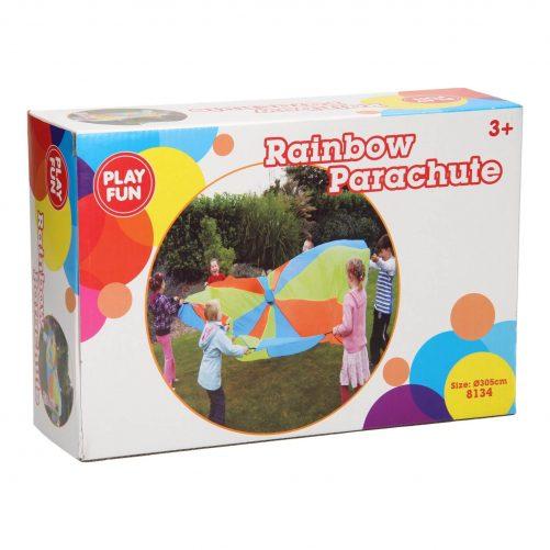 regenboog parachute buitenspelen