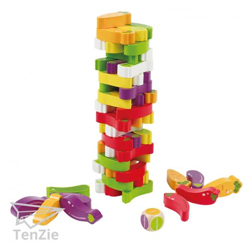 evenwicht-spelmateriaal-houten-groente-stapelspel